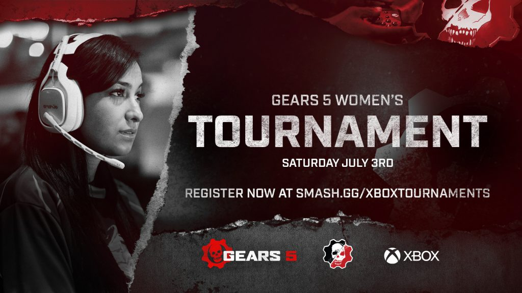 The Gears 5 Women's Tournament Poster featuring information about the event that begins on July 3, 2021
