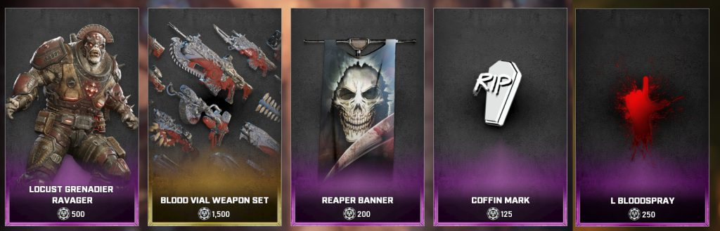 The new items available in the Gears 5 Store for June 22 until 28