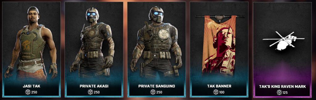 The new items available in the Gears store beginning on June 29, 2021