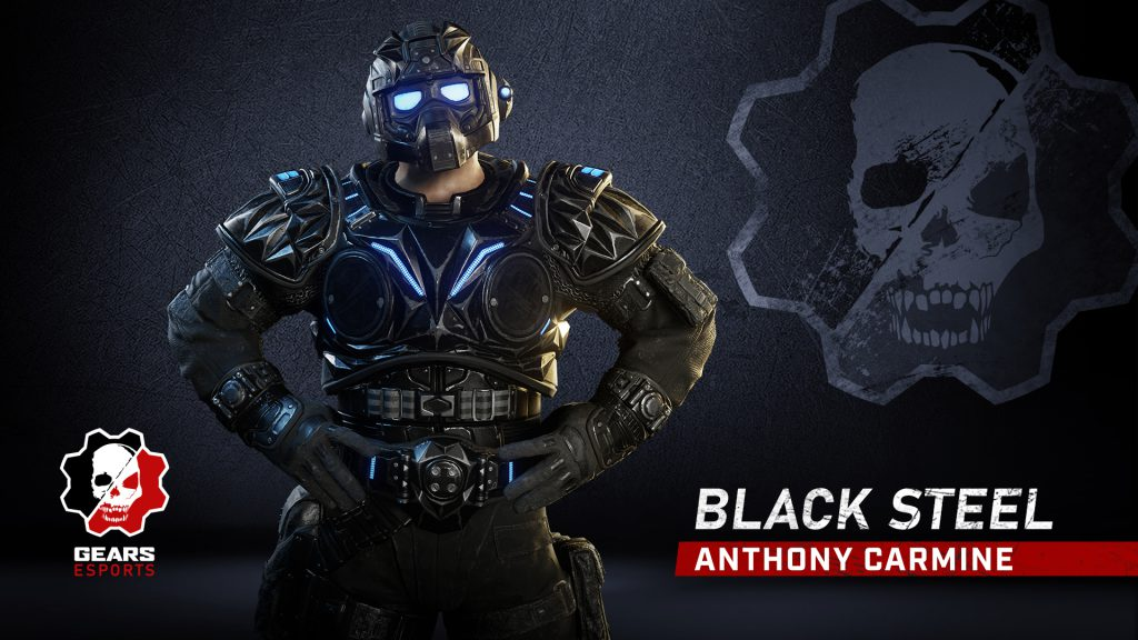 Anthony Carmine featuring the Black Steel character skin