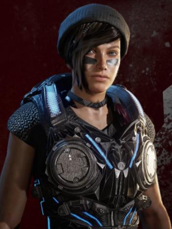 Kait Diaz in the Black Steel skin
