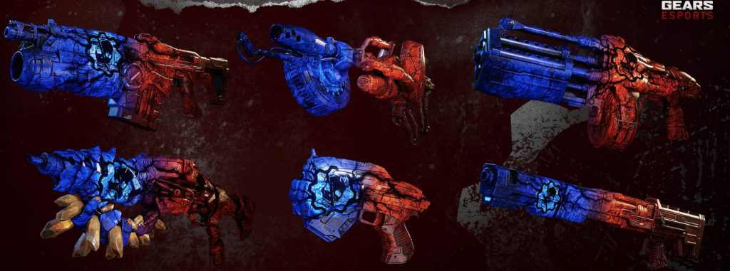 The Gears Esports Syndrome Weapon Skin set