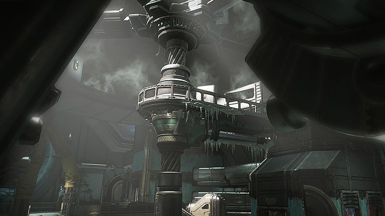 A section of the factory in The Hive map