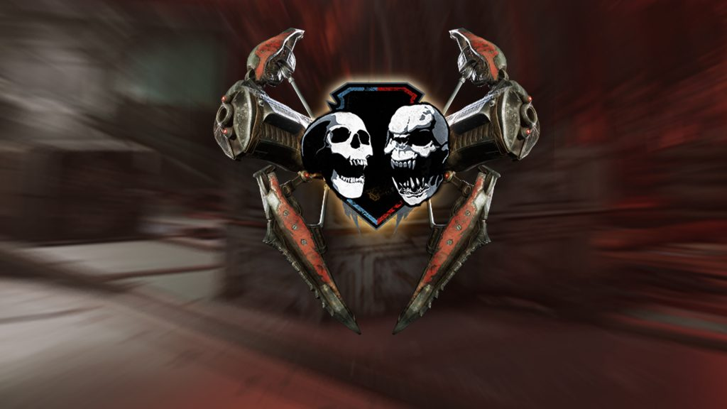 The Torque Bow Tag Logo on a redish background