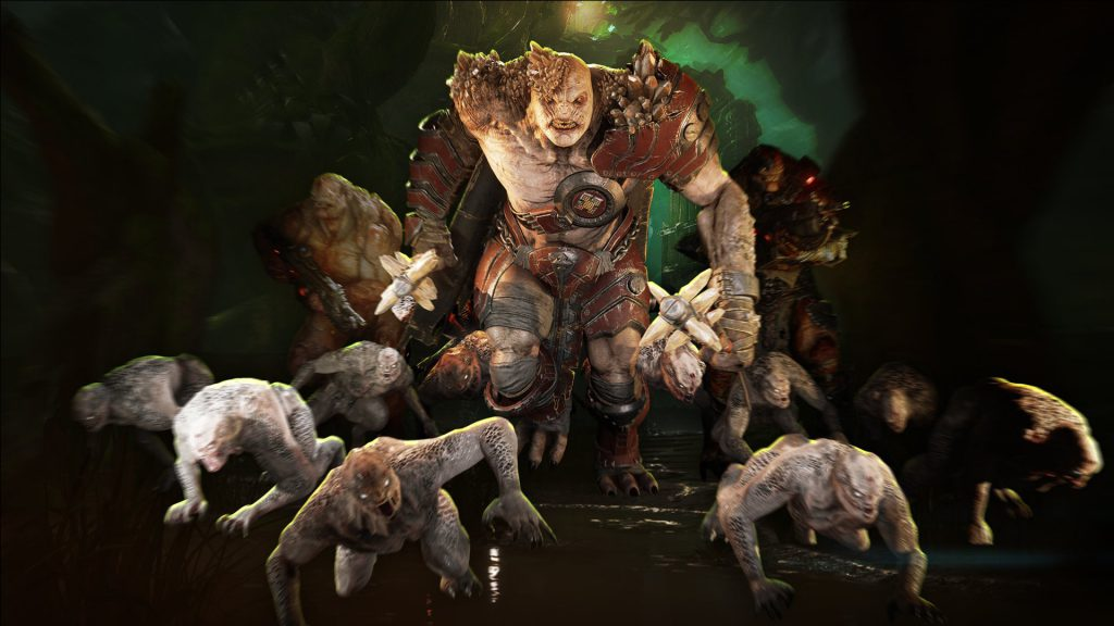A variety of Horde enemies marching, ready to attack