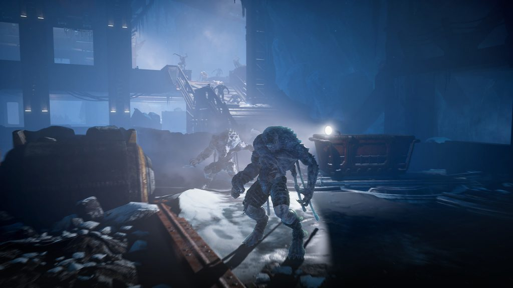 Swarm characters in an abandoned location, from the Mist