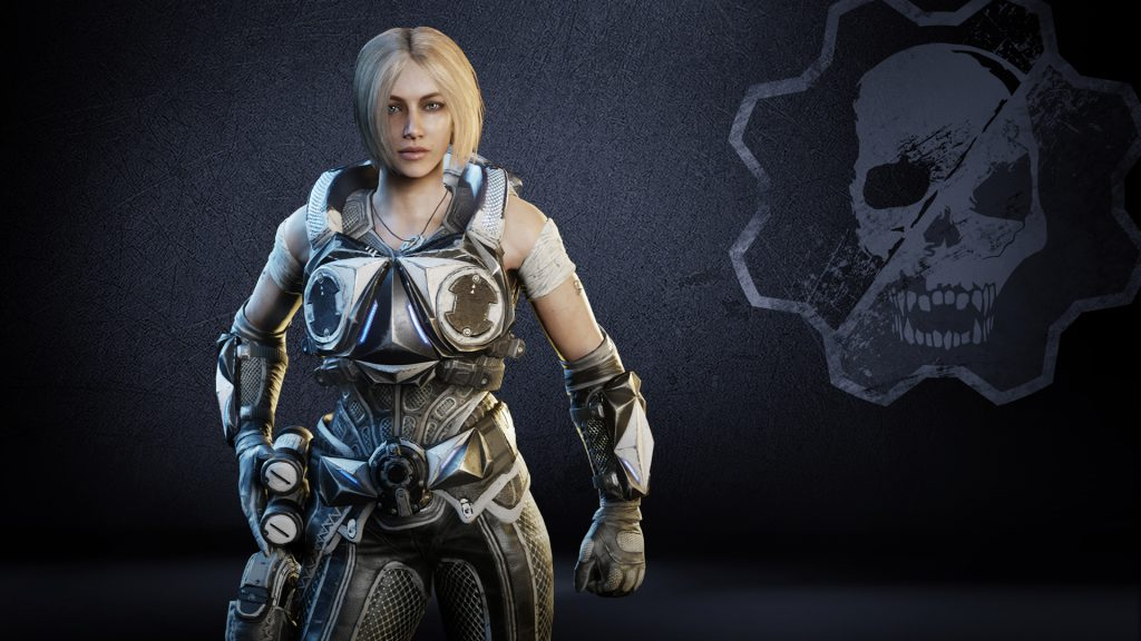 Anya sporting the Chrome Steel armor