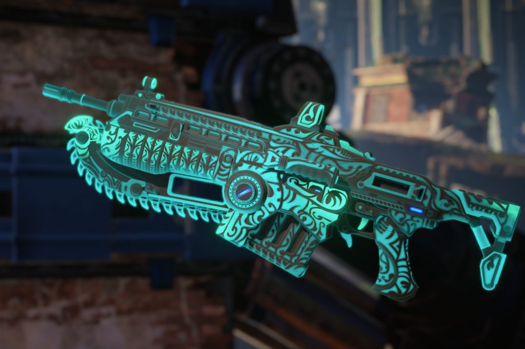A Lancer featuring the Island Glow Teal Weapon Skin