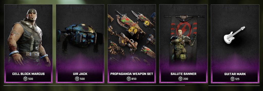 New items available in the Gears 5 Store beginning October 5, 2021